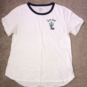 A cute white T shirt with small design